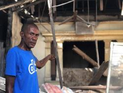 Anthony Morgan is homeless again after the house in which he lived collapsed during the rains last Sunday.