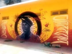 A mural of Desmond Dekker.