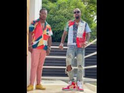 Nvasion (left) and  US-based rapper, and reality TV star Safaree.