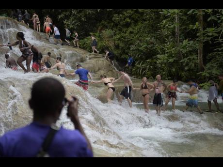 Dunn's River Falls in Ocho Rios, St Ann.
