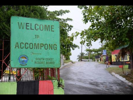 This sign tells you that you are in Accompong Town, St.Elizabeth.