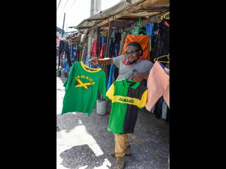 Patrick Logan says he has not noticed any increased demand for Jamaican wear since the start of the Olympic Games or the 'Emancipendence' season.
