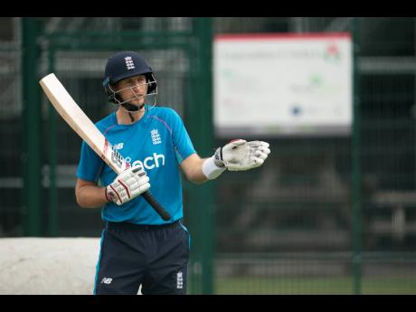 England's Joe Root prepares to bat during a net session at Old Trafford cricket ground in Manchester, England, on  Thursday, September 9.